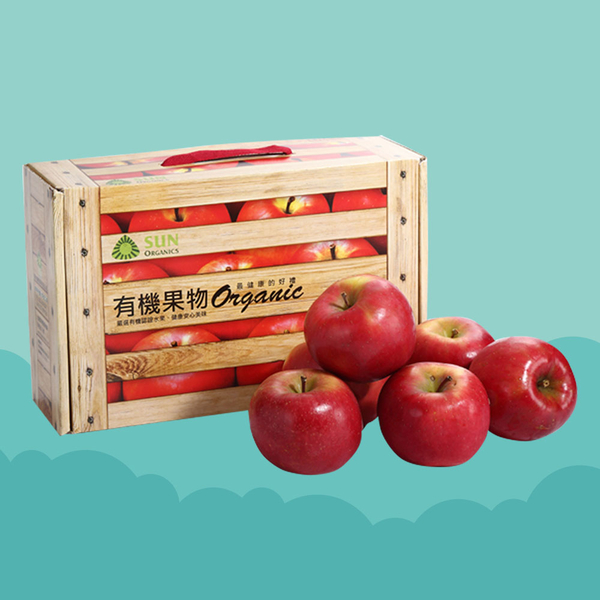 【紐西蘭進口】清淨生活 有機富士蘋果禮盒 - 全程低溫宅急配送(單盒含運)