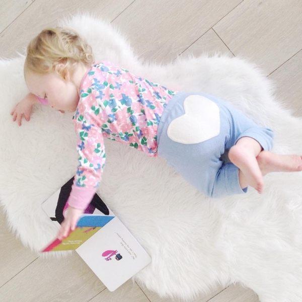 有機棉 長褲 澳洲 Sapling Child 有機棉背面愛心長褲