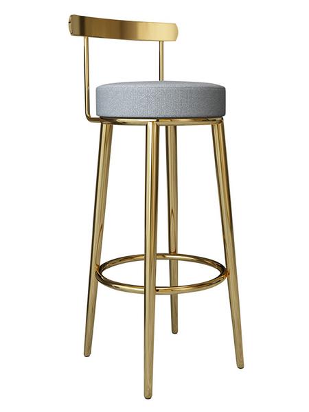 創意吧臺椅北歐吧臺凳高腳椅家用現代簡約不銹鋼金屬酒吧凳靠背
