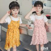 女童兩件式洋裝 夏季新款兒童兩件套連衣裙中大童寶寶兩件套雪紡洋裝 aj3403『易購3c館』
