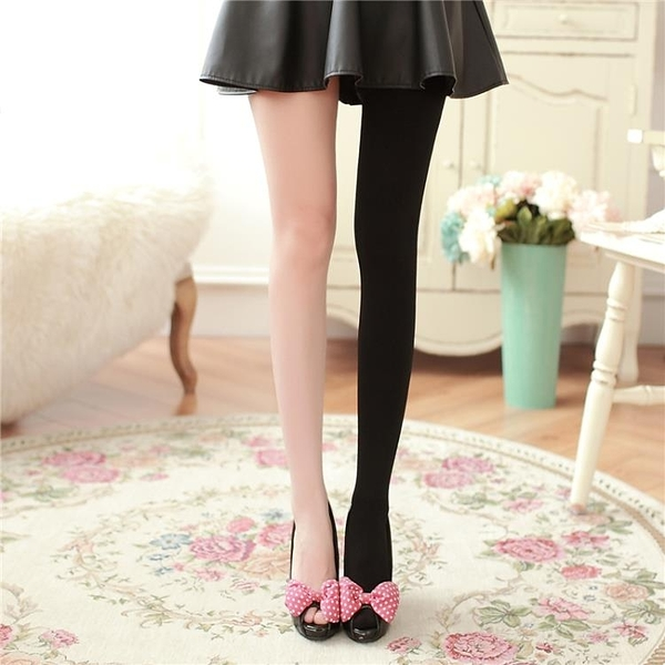 韓國瘦腿襪壓力褲女春秋中厚打底襪防勾絲塑形美腿連褲襪連腳襪子