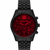 Michael Kors 城市菁英計時手錶-紅x黑 45mm MK8733