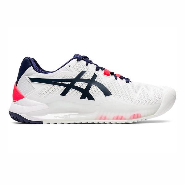 Asics Gel-resolution 8 [1042A072-103] 女鞋 運動 網球 舒適 包覆 亞瑟士 白藍