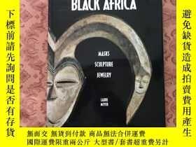 二手書博民逛書店Black罕見Africa Masks Sculpture Je