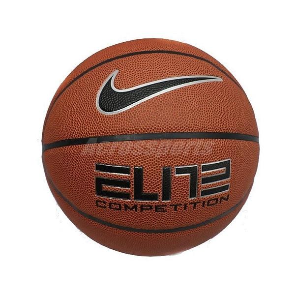 Nike 籃球 Elite Competition 2.0 橘 黑 標準7號球 室內外 PU材質 耐磨【PUMP306】 N000264485-507