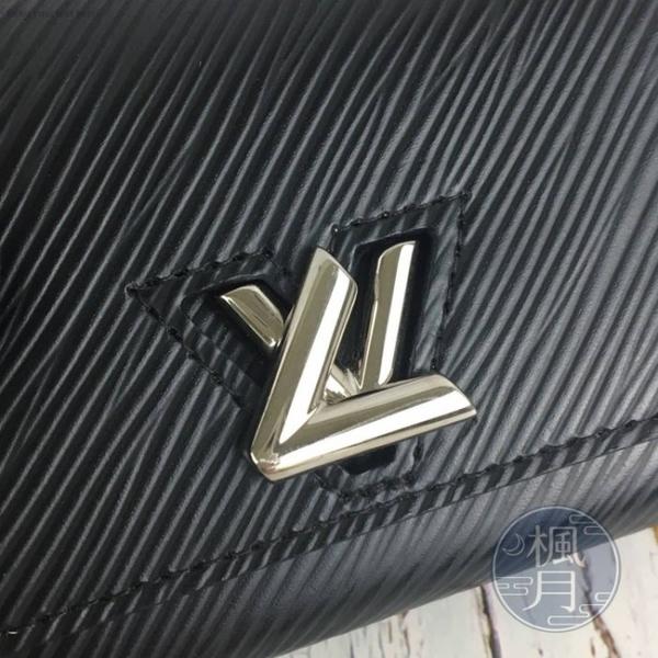 BRAND楓月 LOUIS VUITTON LV 路易威登 M63322 黑 TWIST EPI 短夾 錢包 錢夾