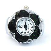 現貨迷你戒指錶創意手指錶 韓版五朵花瓣形狀戒指錶 時尚手錶女8003 小宅女大購物8-3