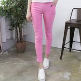 純色修身窄管九分褲  [橘 綠 粉 黑] 四色售