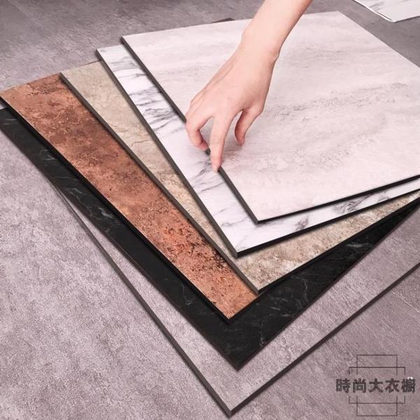 自粘石塑PVC地板革加厚耐磨防水塑膠地板貼紙【時尚大衣櫥】