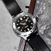 GIORGIO FEDON 1919 / GFCJ001 / 海行者 機械錶 自動上鍊 藍寶石水晶玻璃 防水200米 真皮手錶 黑色 45mm