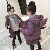 兒童羽絨服 女童棉衣冬裝新款韓版寶寶洋氣加厚棉襖兒童中長羽絨棉服外套 雲雨尚品