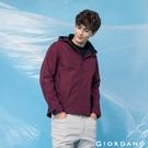 【GIORDANO】男裝高機能可拆式連帽外套 - 28 花紗紅