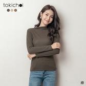 東京著衣-tokichoi-秋日氛圍小立領素面打底多色長袖上衣(191332)