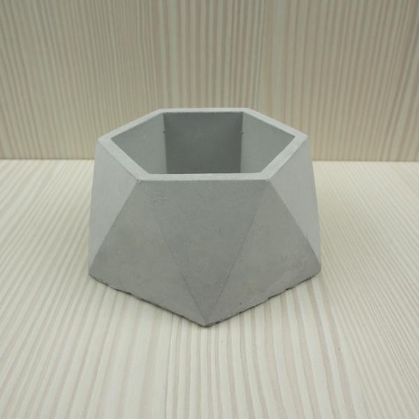 (BEAGLE) 六角幾何型創意水泥盆栽(中) 多肉水泥花器/仙人掌水泥花盆/水泥植栽/水泥盆器