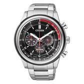 CITIZEN 星辰 霸氣撞色 時尚光動能三眼腕錶-45mm CA4034-50F