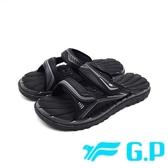 G.P (男女共用款)中性休閒舒適雙帶拖鞋 -黑 (另有黑紅、藍)