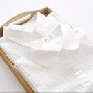 長袖襯衫秋季新款娃娃領純棉白色襯衫女長袖學生寬鬆百搭內搭襯衣上衣 新年禮物
