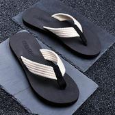 男士拖鞋人字拖防滑休閒潮流時尚外穿涼拖個性沙灘鞋   蘑菇街小屋