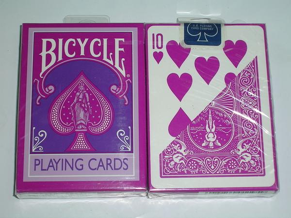 橋牌BICYCLE 808 紫紅色 紀念牌