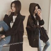 風衣女中長款新款韓版百搭休閒寬鬆薄bf港風外套『韓女王』