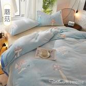 珊瑚毯子辦公室午睡小被子冬季加厚保暖學生宿舍床單人法蘭絨毛毯YYJ 快速出貨