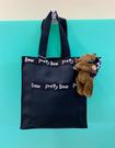 【震撼精品百貨】泰迪熊_Pretty Bear~手提袋/肩背袋(附熊)-黑#87128