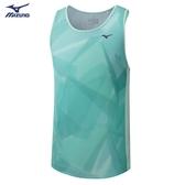 MIZUNO 男裝 背心 無袖 慢跑 路跑 訓練 健身 吸汗快乾 綠【運動世界】J2MA002130