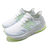New Balance 慢跑鞋 1080v11 寬楦 女鞋 白 灰 慢跑 馬拉松 訓練 緩震 運動鞋【ACS】 W1080Y11D