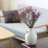 花瓶  陶瓷花瓶白色小清新干花滿天星插花現代水培客廳歐式擺件家居裝飾 igo 歐萊爾藝術館