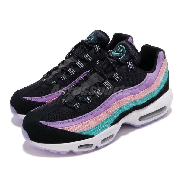 Nike Air Max 95 ND 黑 白 紫 粉色 男鞋 復古 慢跑鞋 運動鞋【PUMP306】 BQ9131-001