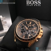 BOSS伯斯男錶44mm黑色錶面深黑色錶帶
