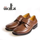 Waltz-簡約經典魔鬼氈大眾紳士皮鞋412001-03(深咖)