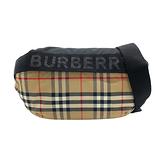 【台中米蘭站】全新品 BURBERRY 經典Vintage格紋帆布中號斜背/腰包(8026557-米)
