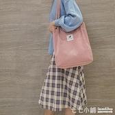 學生包包女包斜挎單肩包韓版帆布包大容量布袋包新潮手提包ins女 【七七小鋪】