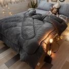 雙面法蘭絨暖被 山上麋鹿/鐵灰 台灣製造 棉床本舖