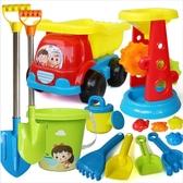 沙灘玩具 海邊玩具 兒童玩具沙灘玩具套裝鏟子和桶海邊男孩女小孩挖沙鏟沙漏車工具 快速出貨