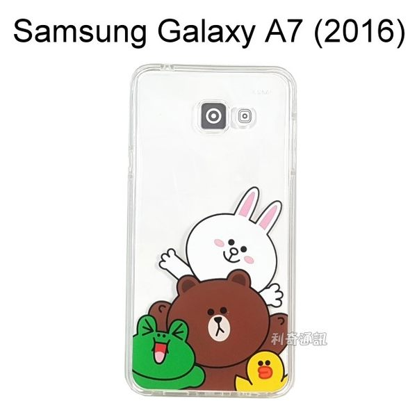 LINE 空壓氣墊軟殼 [夥伴] Samsung A710Y Galaxy A7 (2016)【正版授權】