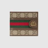 【雪曼國際精品】GUCCI Ophidia GG 綠紅織帶 皮夾 短夾 2020春夏款(597606 96IWT 8745)─新品現貨