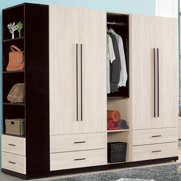衣櫃 衣櫥 QW-112-2B 伊凡卡7.7尺組合衣櫃【大眾家居舘】