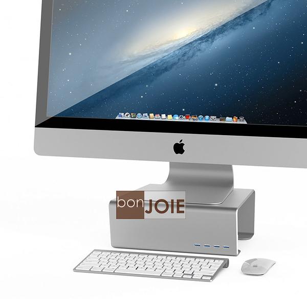 ::bonJOIE:: 美國進口 Satechi Premium Aluminum 鋁合金材質 顯示器支撐架 (內含四個 USB 3.0 Hub) 4-Port