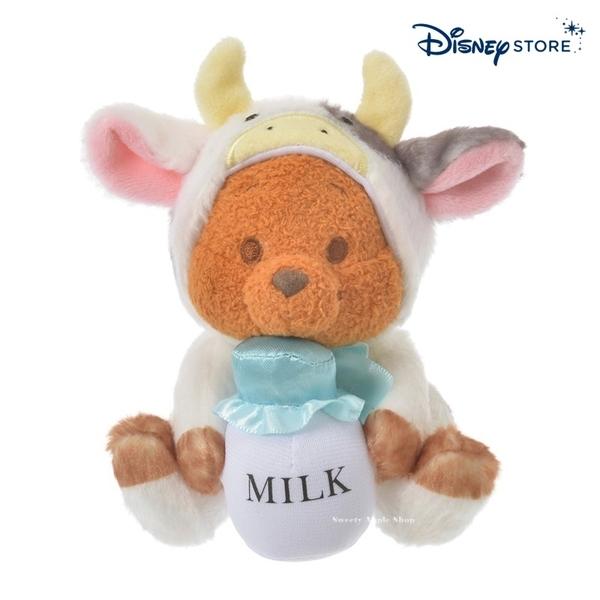【SAS】日本限定 迪士尼商店 Disney Store 小熊維尼家族 新年牛年 生肖干支 袋鼠小荳 玩偶娃娃 13cm
