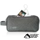 【Polarstar】雙層3C收納袋『暗灰』P18737 戶外.旅行.出國.旅行袋.手提袋.外出袋.電子產品.鑰匙包