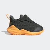 ADIDAS FortaRun AC I [EE4196] 小童鞋 運動 休閒 舒適 透氣 襪套 魔鬼氈 愛迪達 黑橘