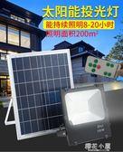 太陽能燈戶外庭院燈led投光燈照明家用超亮遙控新農村100W路燈QM『櫻花小屋』