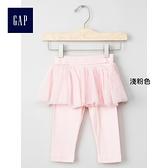 Gap嬰兒 舒適可愛蓬蓬裙式內搭褲 234180-淺粉色