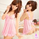 睡衣 性感睡衣-粉紅撩人後開襟二件式睡衣-星光密碼c129