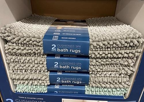 [COSCO代購] C129516 TOWN&COUNTRY BATH RUG 浴室地墊二入組 尺寸:43X60公分