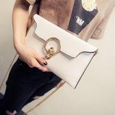 韓版時尚百搭簡約休閒鏈條斜挎包手機包信封包女包【非凡上品】h551
