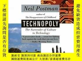 二手書博民逛書店罕見TechnopolyY362136 Neil Postman Vintage, 1993 ISBN:978