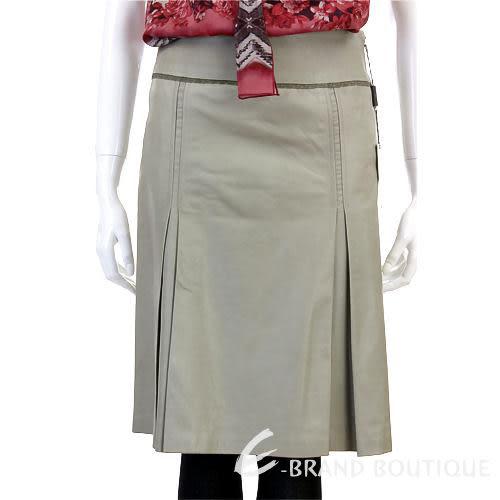 PELLESSIMO 灰綠色打摺造型皮裙 0520013-06
